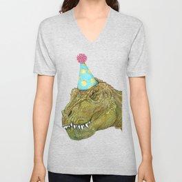 Party Dinosaur II Unisex V-Neck