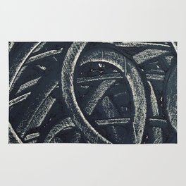 Junction - red graphic Rug