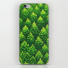 Evergreen Trees Watercolor Painting iPhone Skin