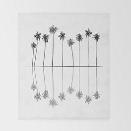 Palm Reflections II Throw Blanket