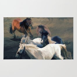Breaking Away   -  Wild Horses Rug