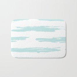 Swipe Stripe Succulent Blue and White Bath Mat