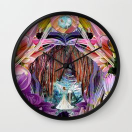 Fairy and Unicorn, Fantasy Forest Wall Clock