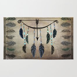 Bow, Arrow, and Feathers Rug