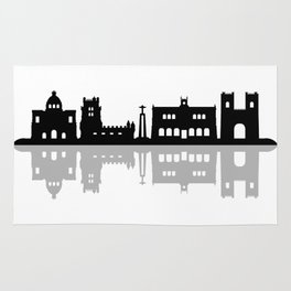 lisbon skyline Rug