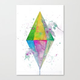 Watercolor Plumbob Canvas Print