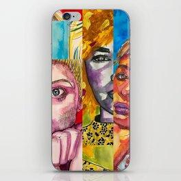 Female Faces Portrait Collage Design 1 iPhone Skin