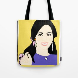 Knock Knock! Mina Yellow Tote Bag