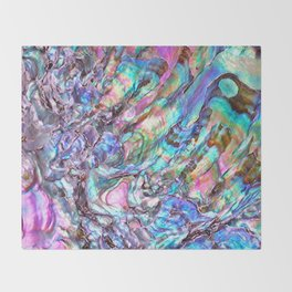 Shimmery Rainbow Abalone Mother of Pearl Throw Blanket