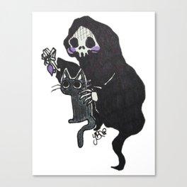 Death and Curiosity Canvas Print