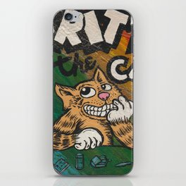 CULT ICON, FRITZ THE CAT by DAVID C*J BUNN iPhone Skin
