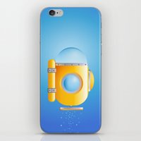 submarine iPhone & iPod Skins featuring submarine by JuliaTara