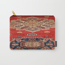 Natural Dyed Handmade Anatolian Carpet Carry-All Pouch