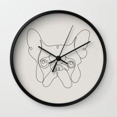 One Line French bulldog Wall Clock
