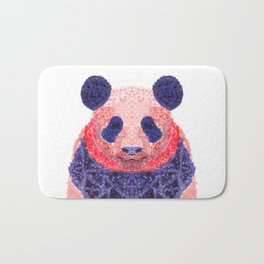 Don't Be Scared To Be Different If You're Already Rare (Panda Animal Painting Stippled Pop Art) Bath Mat