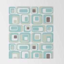 Retro Rectangles Mid Century Modern Geometric Vintage Style Throw Blanket