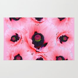 PINK POPPIES COLLAGE Rug