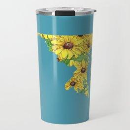 Maryland in Flowers Travel Mug