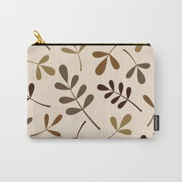 Assorted Leaf Silhouettes Gold Browns Cream Carry-All Pouch