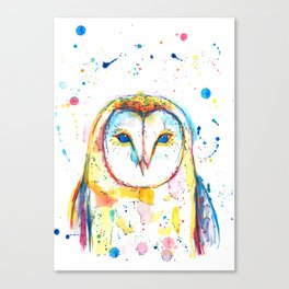 Barn Owl - Watercolor Painting Canvas Print
