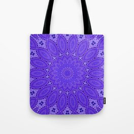 Lovely Healing Mandala  in Brilliant Colors: Purple and Blue Tote Bag