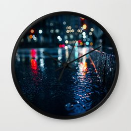 Cold City Lights Wall Clock
