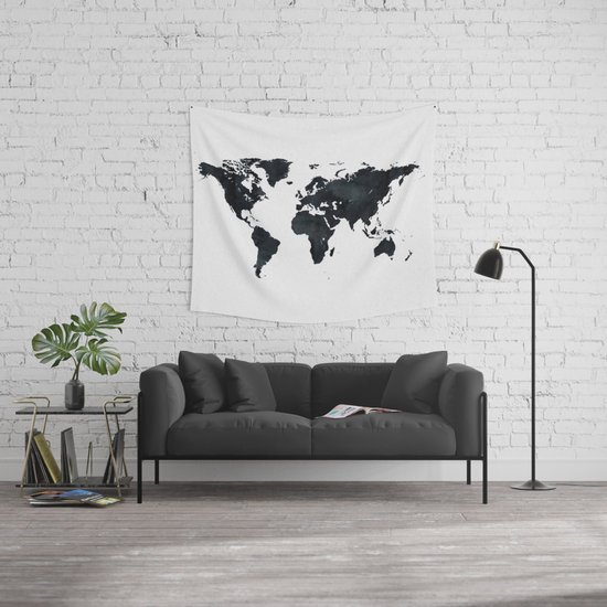 World map in black and white ink on paper wall tapestry by world map in black and white ink on paper wall tapestry by naturemagick society6 gumiabroncs Choice Image