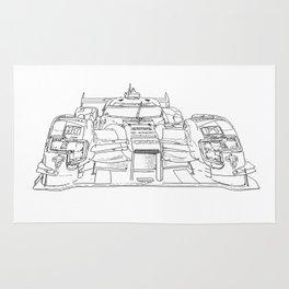 race car drawing Rug