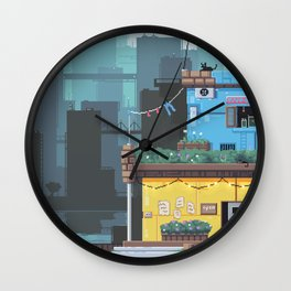 The Cat's Diner Wall Clock