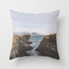 Pathway to the Sea Throw Pillow