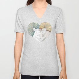 Ferret Sleep Love Unisex V-Neck