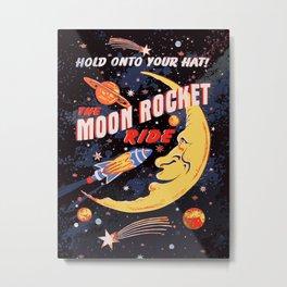 Rocket Moon Ride (vintage) Metal Print