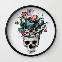 Skull Girl Wall Clock
