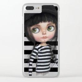 Stripes Style Blythe by Erregiro Clear iPhone Case