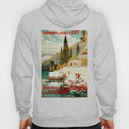 Switzerland and Italy Via St. Gotthard Travel Poster Hoody