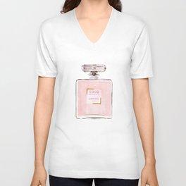 Classic Pink Parfum Perfume Fashion Cute Minimalism Unisex V-Neck