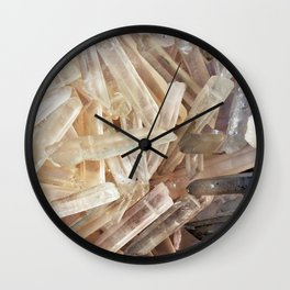 Sparkly Clear Magical Unicorn Crystal Shards Wall Clock