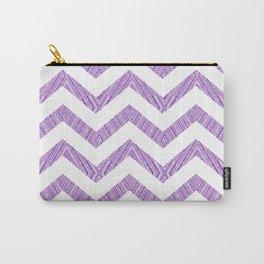 Decorative Chevron Purple Texture Pattern Carry-All Pouch