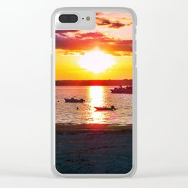 Sunset at Hadley's Point in Bar Harbor, Maine Clear iPhone Case