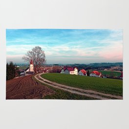 Hiking into springtime scenery | landscape photography Rug