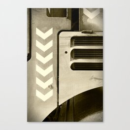 Road Roller Chevron 05 - Industrial Abstract Canvas Print