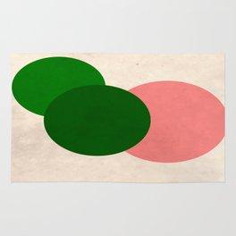 Peach Green Vintage Mod Circles Rug
