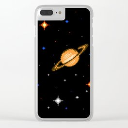 Deep Dark Space Clear iPhone Case