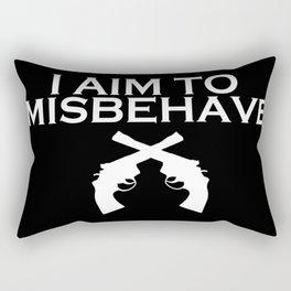 Aim to Misbehave V2 Rectangular Pillow