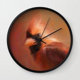 Cardinal 1 Wall Clock