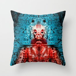 Sir Circuity's sartorial cybernetics Throw Pillow