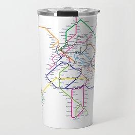 World Metro Subway Map Travel Mug