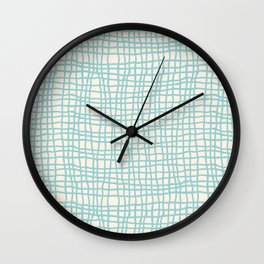 Blue Scribbles Pattern 06 Wall Clock