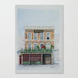 The Black Lion pub, Bayswater, London. Canvas Print