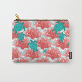 Sea Turtles in The Coral - Ocean Beach Marine Carry-All Pouch